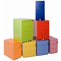 Another set of colored Bisley Cabinets (Containers)