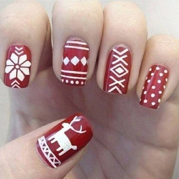 30 Christmas Nails ALL FOR FASHION DESIGN | See more at http://www.nailsss.com/... | See more nail designs at http://www.nailsss.com/nail-styles-2014/
