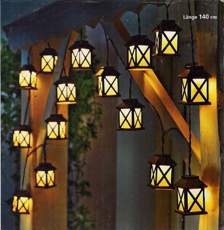 led lichterkette laterna laternen laterne 140 cm neuware in m bel wohnen beleuchtung. Black Bedroom Furniture Sets. Home Design Ideas