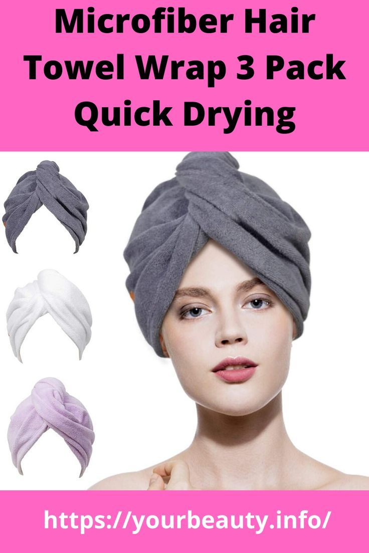 Microfiber Hair Towel Wrap 3 Pack Quick Drying Towels Hair Drying Turban Towel In 2020 Hair Towel Hair Towel Wrap Anti Frizz Products