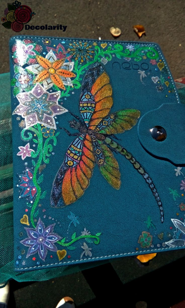 """""""The dragonfly """" - """"Dragonflies apear when angels are near."""" Zentangle draw with acrilyc markers."""