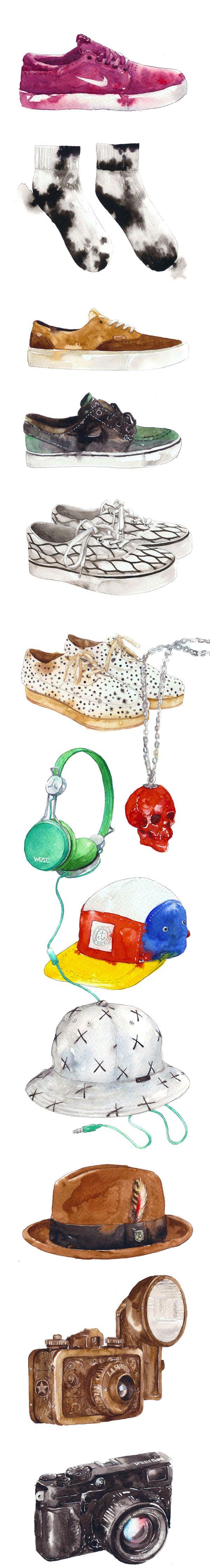 Top to Toe - Product drawings    Bitchslap Magazine by Eunike Nugroho, via Behance