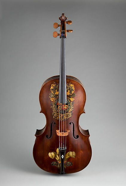 This instrument was made for the avid cellist George Frederick, Prince of Wales, who was crowned King George IV in 1820 and is one of several cellos known to have been owned by George IV. The instruments of Jacob Stainer and the Amati family influenced Forster's work, as can be seen in the outline, arching and delicate scroll of this 'cello