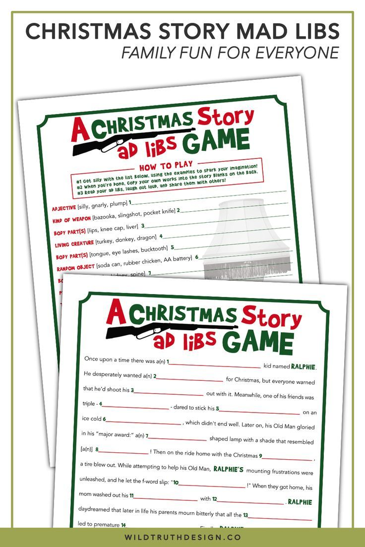 picture regarding Office Mad Libs Printable called A Xmas Tale Video Bash Sport - Printable Nuts Libs