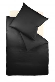 Auch bei cooler schwarzer Bettwäsche muss man nicht auf Komfort verzichten - hier als bügelfreie Jerseybettwäsche von www.ladyproject.de