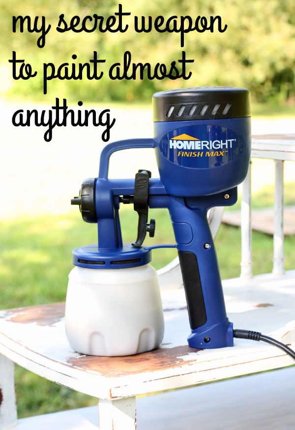 The secret to spray painting furniture via www.theshabbycreekcottage.com