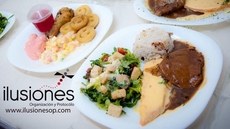 Organizadores de Eventos Sociales Menu de niños. Menu adultos: 2 carnes 2 acompañamientos www.ilusionesop.com