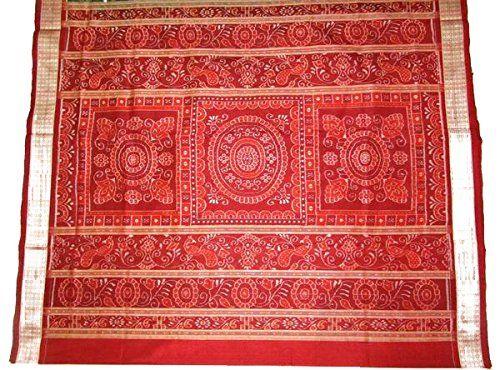 Unique Sambalpuri Silk Saree - Green , with Blouse Piece: Amazon.in: Clothing & Accessories