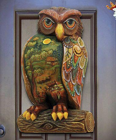 This Woodsy Night Owl Door Hanger by G. DeBrekht is perfect! #zulilyfinds