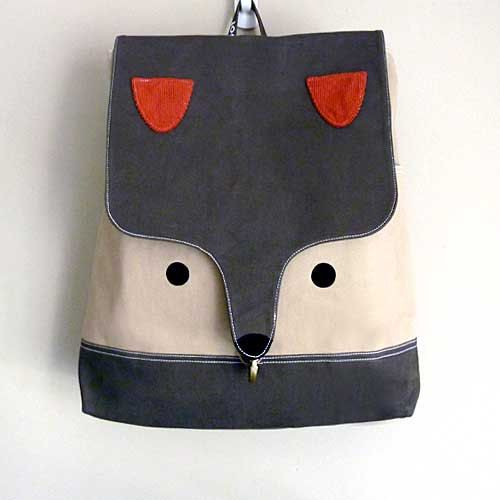 Fox Backpack, Fox Bag, Unisex Backpack, Large Backpack, Diaper Backpack, Fantastic Fox, Dark Olive Fawn Color, 4 WEEKS TURNAROUND