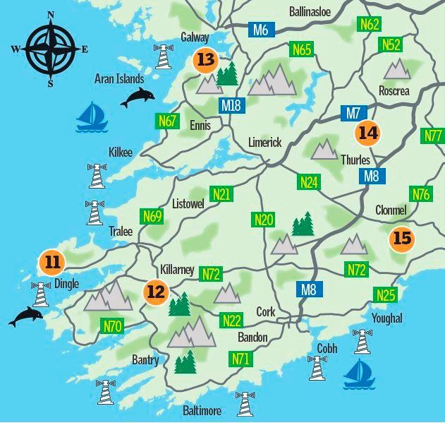 Map: Munster's Winter Walks (Sunday Independent)