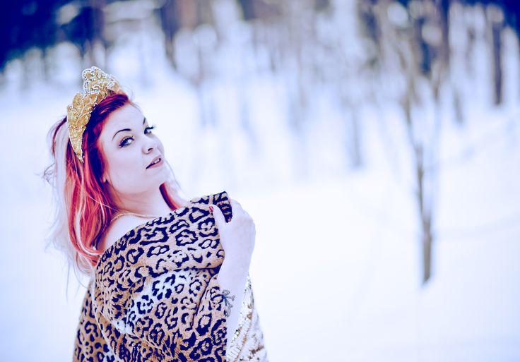 Bettie Blackheart in the wintery Helsinki by Kaylin Idora