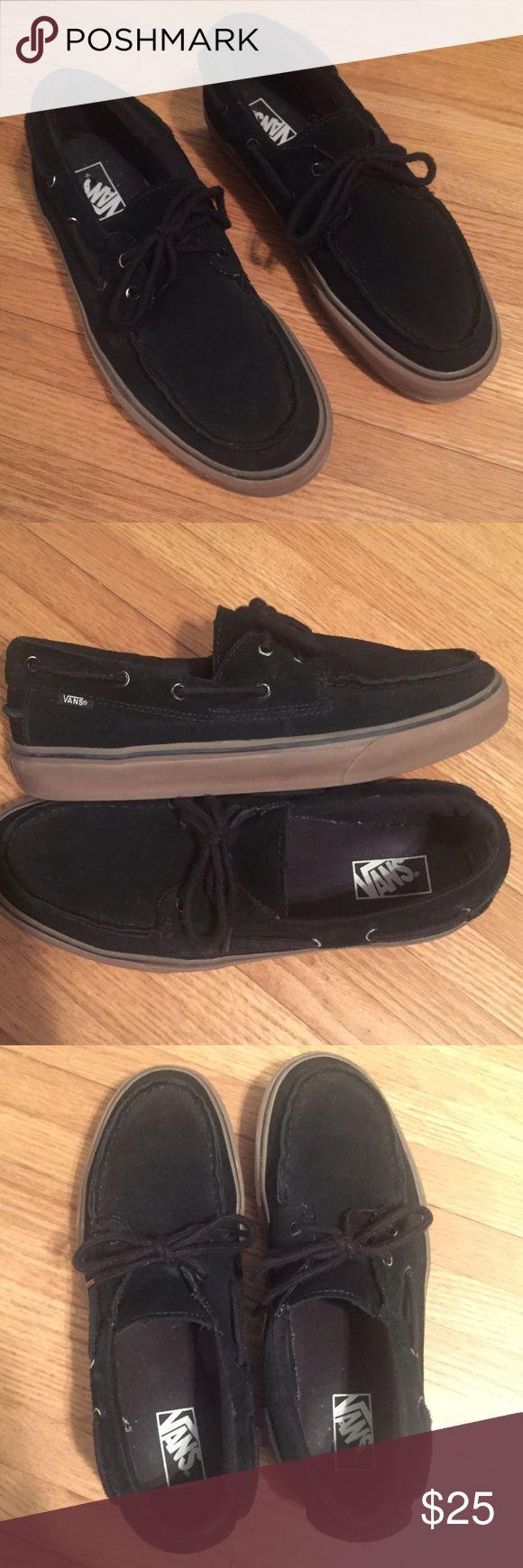 Men's Vans Zapatos Del Barco size 12 Men's Vans Zapatos Del Barco size 12. Black Gum Vans Shoes
