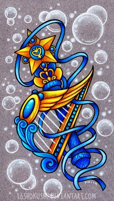 Sailor Mercury's Transformation Wand by 16Shokushu on deviantART