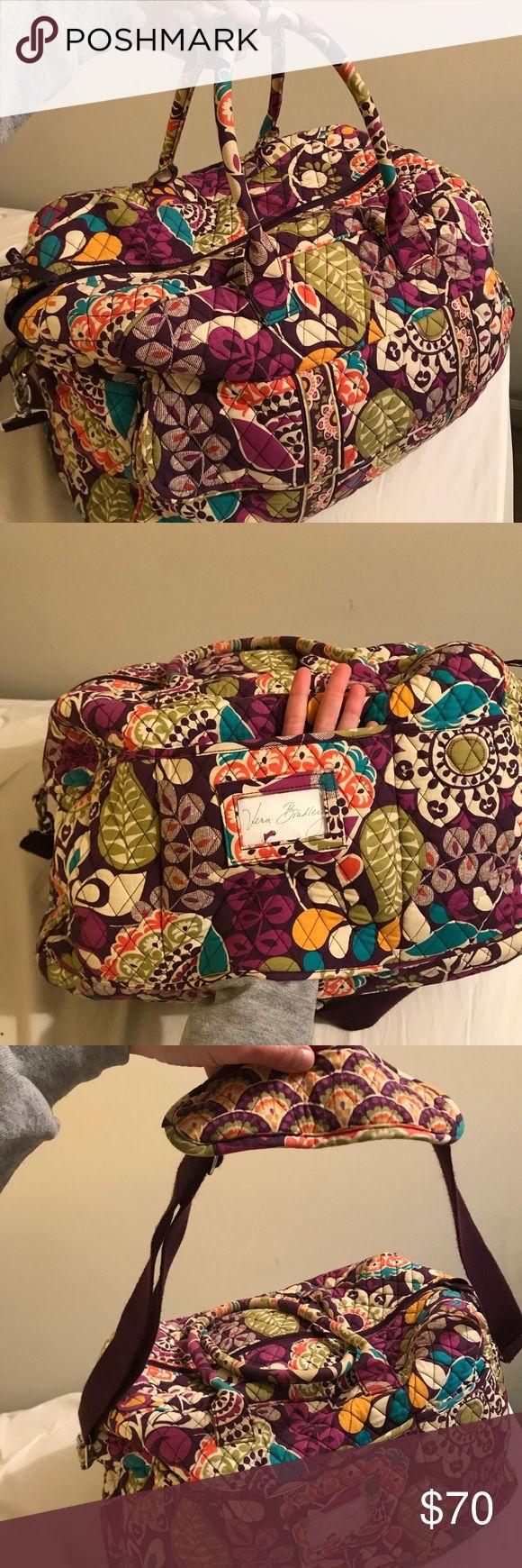 Vera Bradley weekender bag Lots of pockets, has a sleeve to slide over suitcase handle Vera Bradley Bags Travel Bags