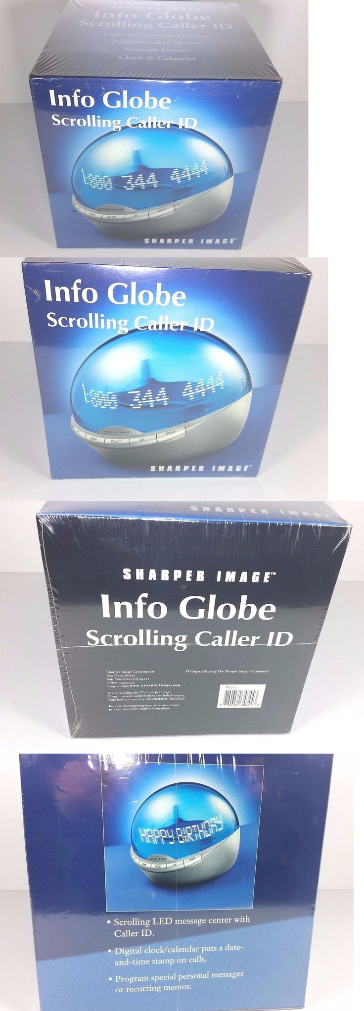 Caller ID Devices: Sharper Image Info Globe Scrolling Caller Id Caller Id Display New Sealed -> BUY IT NOW ONLY: $125 on eBay!