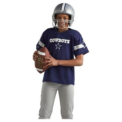 Franklin Sports NFL Dallas Cowboys Deluxe Uniform Set, Kids Unisex, Size: Medium, Blue