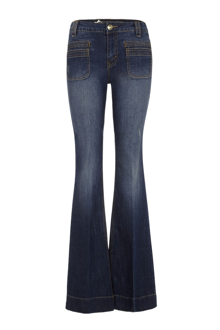 Pantalon flare denim blue SINEQUANONE