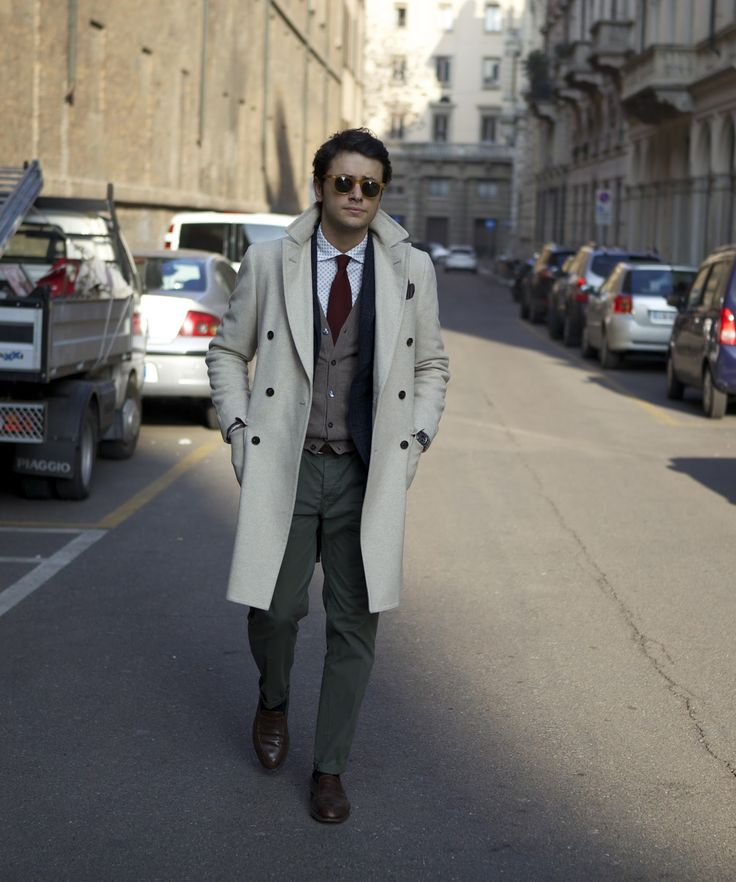 "Secound picture in Fabio Attanasio's blog post ""MERANO COAT"". Model: Fabio Attanasio."