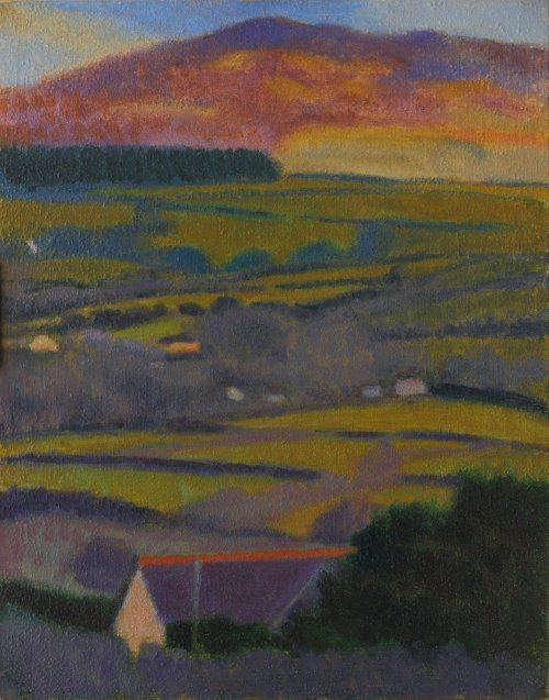 Distant moorland painting 50 x 40 cms Tom Henderson Smith. Click the picture or 'visit site' to access a link to its Artstack page where there are 'zoom' and 'view in room' facilities.