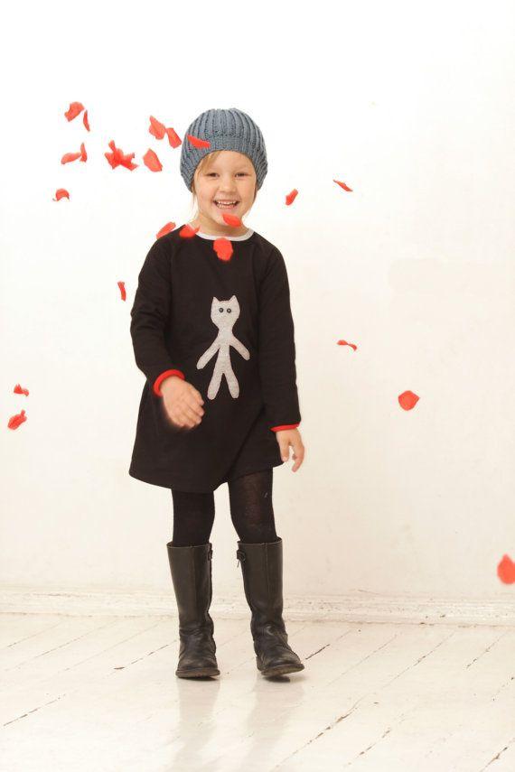 Filles manches longues robe enfant en bas âge fille par yellOkids, $48.00