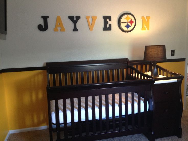 Steeler Crib Bedding Set