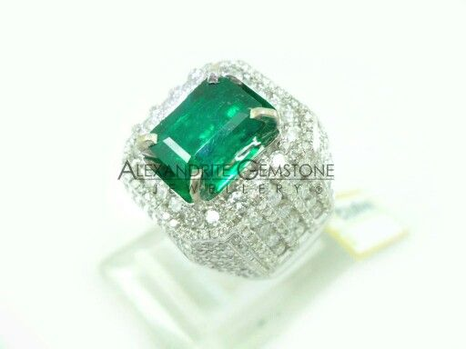 Mens Ring Columbia Emerald