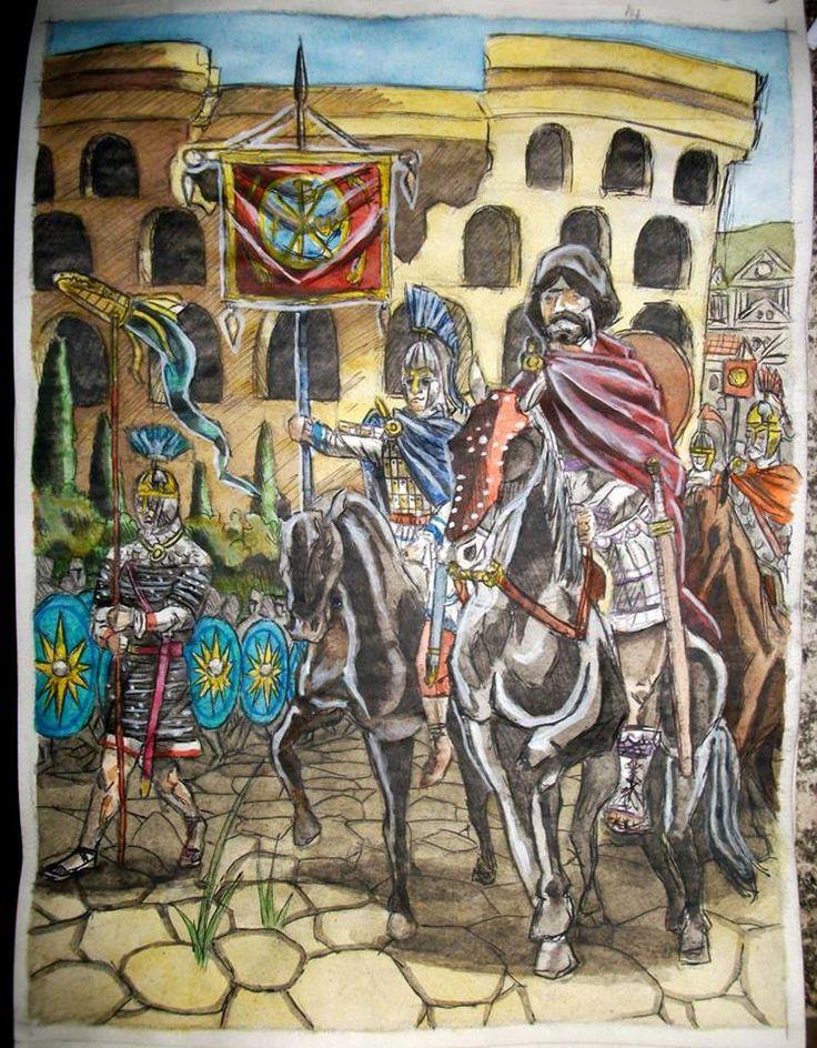 Sketch of Belisar triumphal entry into Rome by AMELIANVS on DeviantArt