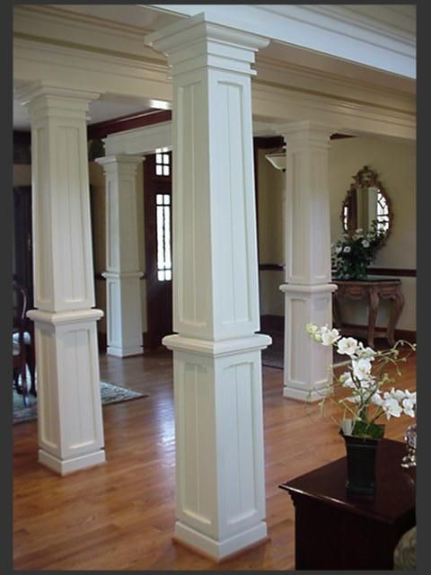 Architectural Columns For The Custom Home Or Office. Mahogany, Knotty Alder  Or Cedar Wood Columns