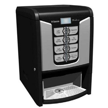 Saeco Phedra: Saeco top quality brewing unit and pre-heating system, High capacity canisters, Easy to clean and maintain with the 'seagull wing' system, Easy user interface with LCD graphic display Payment system option easily mountable, 8 beverage selections, 20 oz cup size option. $3,299 or $55.00 Per Week.