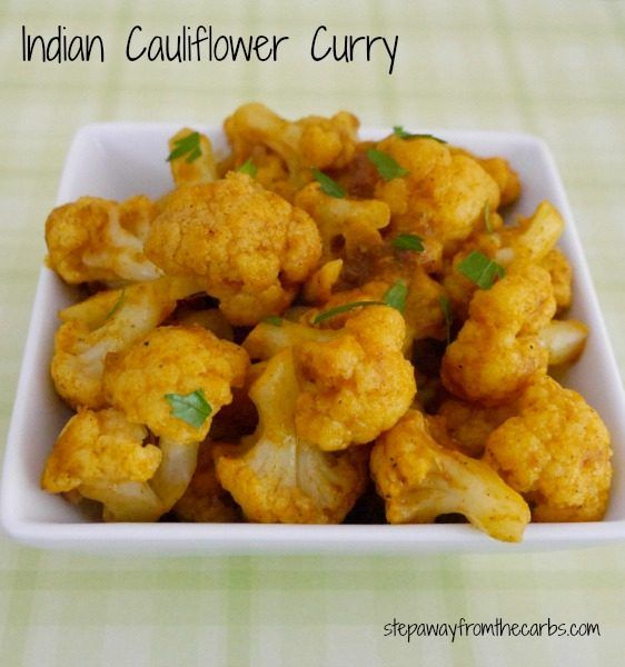 Indian Cauliflower Curry - low carb side dish