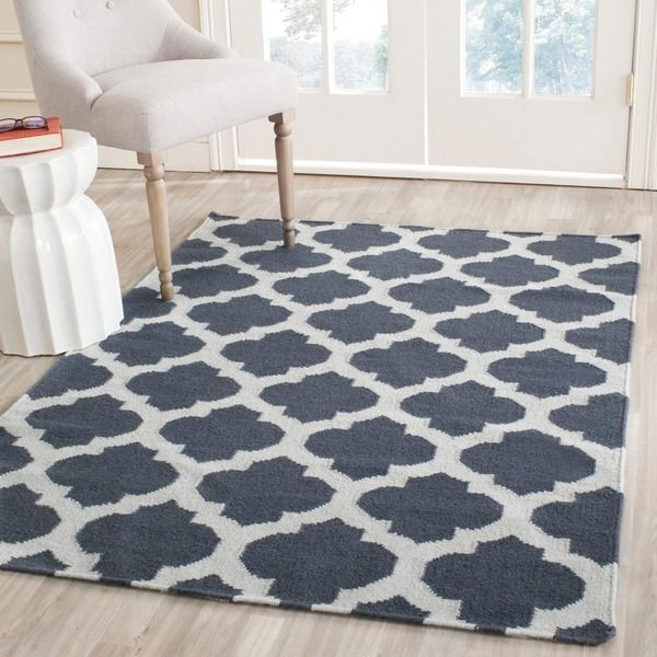 Safavieh Hand-woven Moroccan Reversible Dhurrie Blue Wool Rug (4' x 6') - Overstock™ Shopping - Great Deals on Safavieh 3x5 - 4x6 Rugs