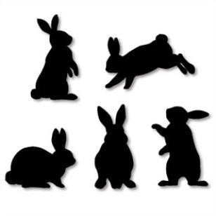 Wall Decorations: Rabbit, #freeprintables #bunny #bunnies #rabbits #Easter   Wall Decorations: Rabbit Artist:Yukari Nakayama  Home and Living,Paper Craft, #silhouette,decoration,purple,Cream,black #spring