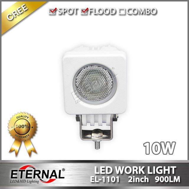10W 2x2in mini led work light marine boat yatch led lamp , spot or flood beam