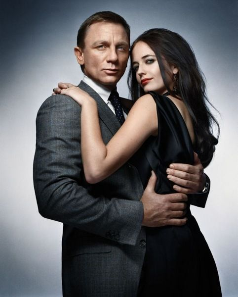 Daniel Craig and Eva Green