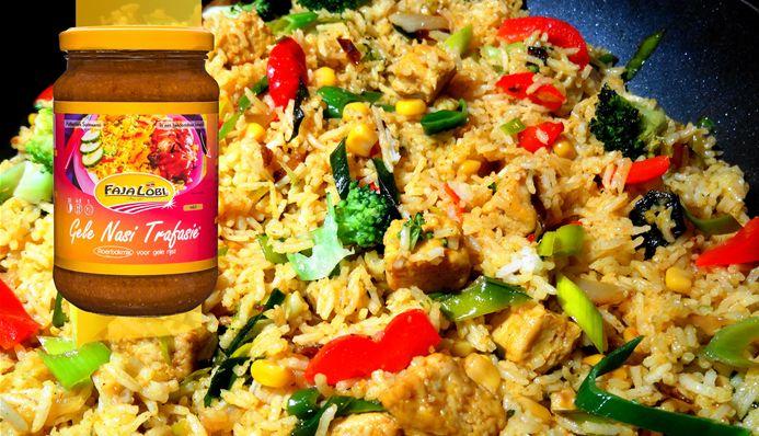 Surinaams eten – Surinaamse gele nasi met kippenbouten uit de oven