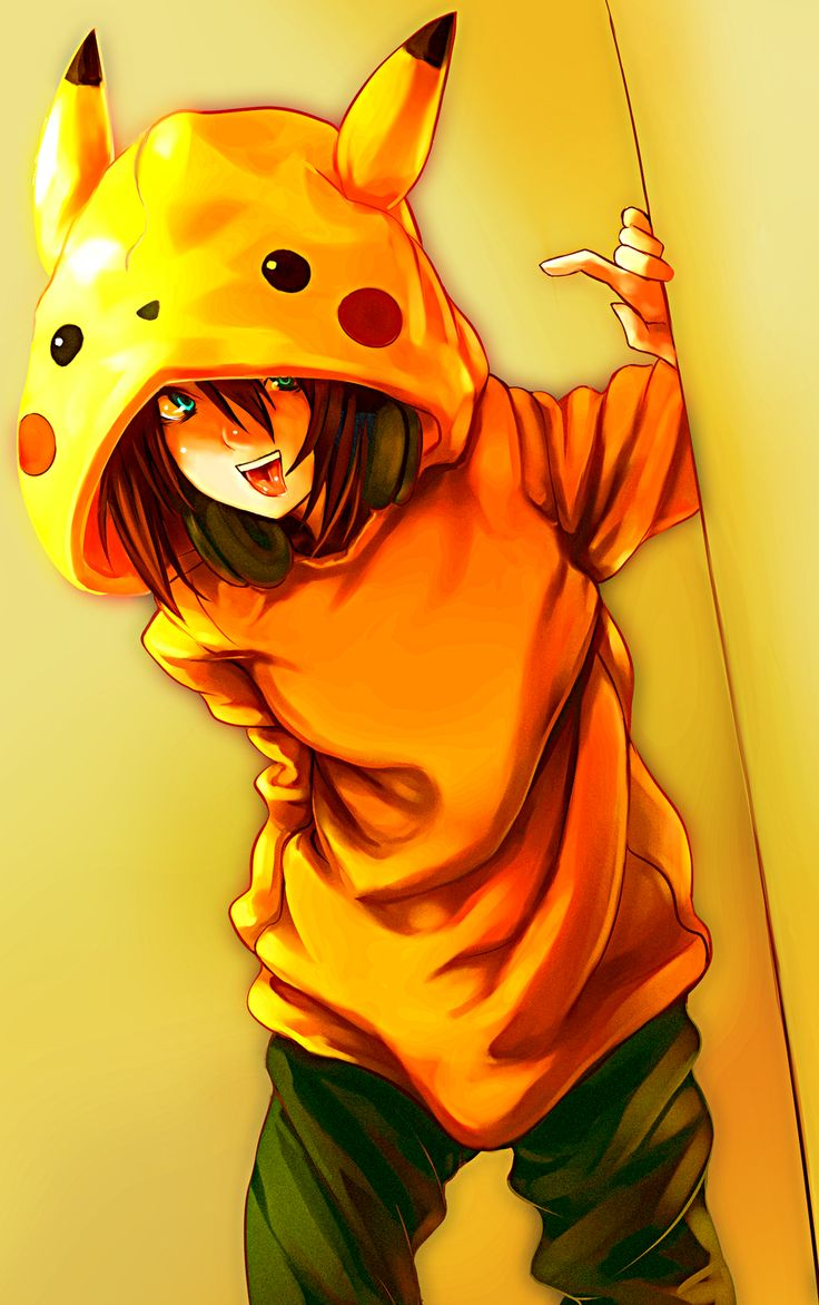 anime characters in hoodies Pikachu hoodie! by *3rd