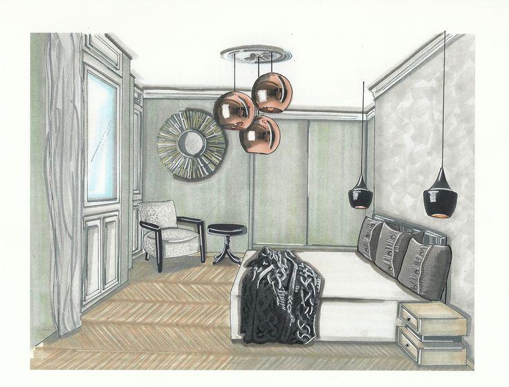 Bedroom with a little bit #ArtDeco