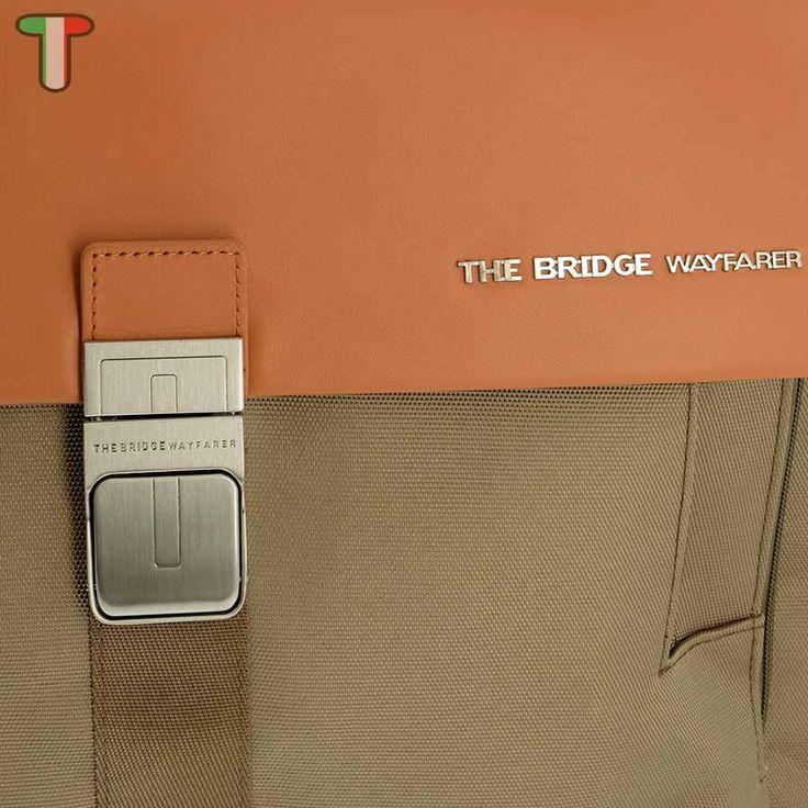 The Bridge Wayfarer Briefcase Flap Khaki