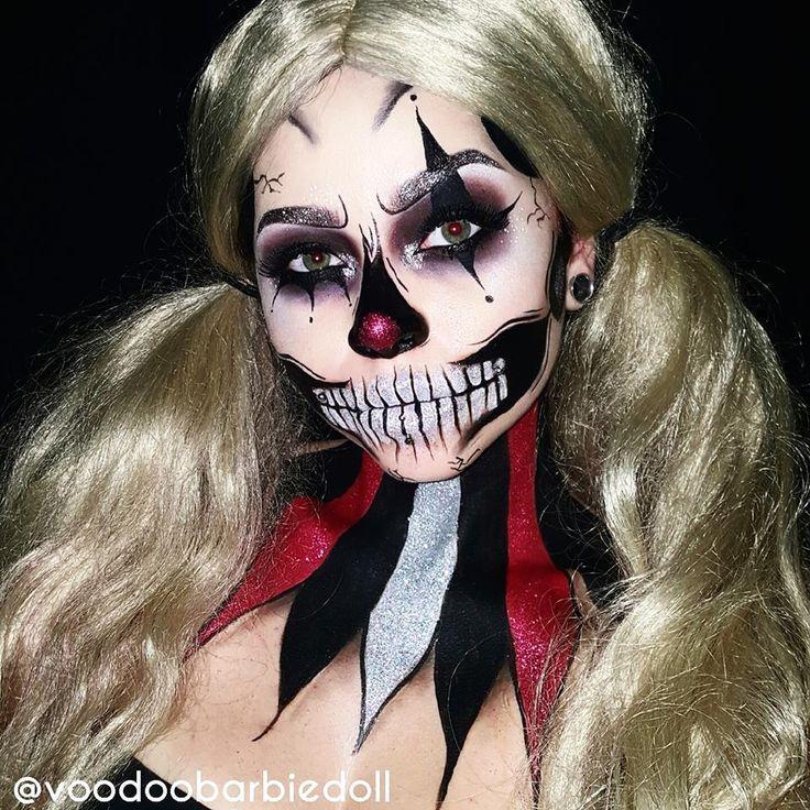 The 25+ best Clown makeup ideas on Pinterest | Harlequin makeup ...