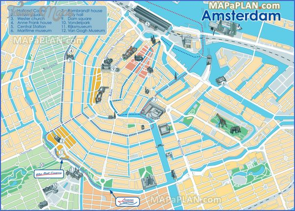 awesome Amsterdam Map Tourist Attractions