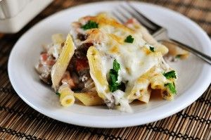 Delicious Greek Pastitsio {Casserole-Style} [yummy! simmered beef in broth for awhile to soften]