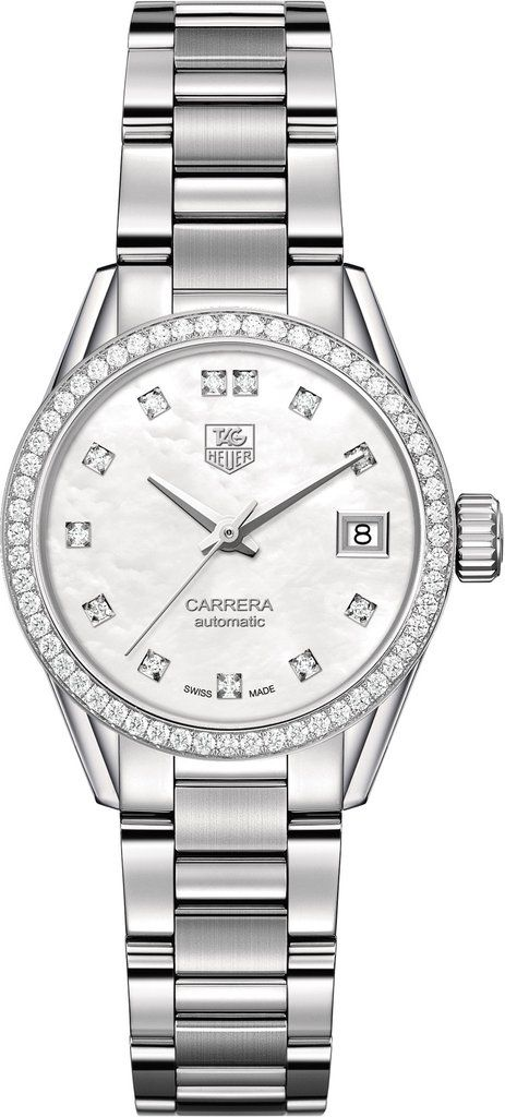 TAG Heuer Watch Carrera Calibre 9 #bezel-diamond #bracelet-strap-steel #brand-tag-heuer #case-material-steel #case-width-28mm #date-yes #delivery-timescale-4-6-days #description-done #dial-colour-white #fix #gender-ladies #luxury #movement-automatic #official-stockist-for-tag-heuer-watches #packaging-tag-heuer-watch-packaging #style-dress #subcat-carrera #supplier-model-no-war2415-ba0776 #warranty-tag-heuer-official-2-year-guarantee #water-resistant-100m