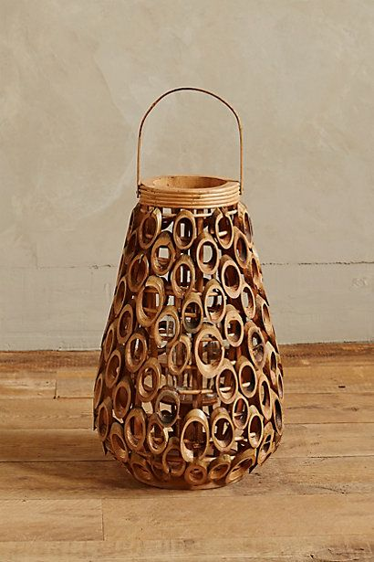Never thought about cutting bamboo this way- genius! Talih Bamboo Lantern  #anthropologie  http://www.justleds.co.za