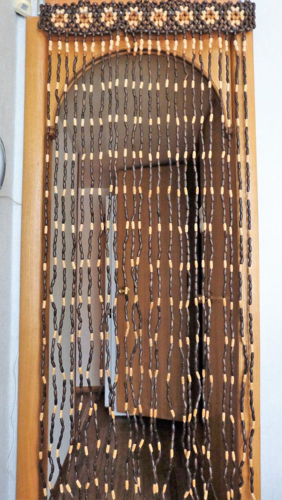 Vintage Wood Curtain Door Beads Beaded Curtains от RAGMAN770