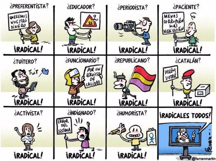 Todos radicales! #Viñeta #Humor