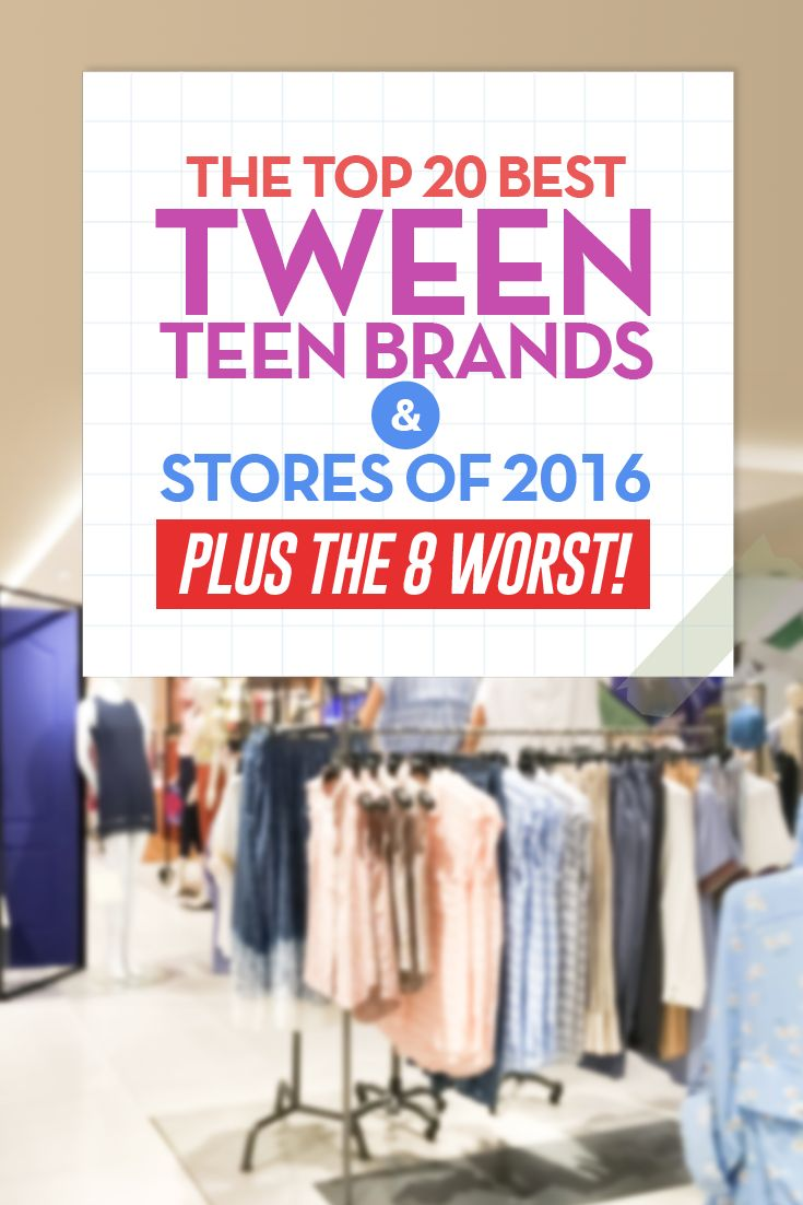 Pin now and read later! Best #Tween and #Teen stores and brands of 2016  #fashion