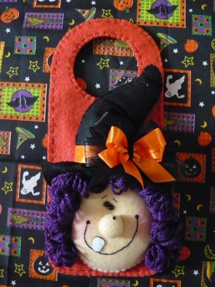 Felt Door Hanger witch