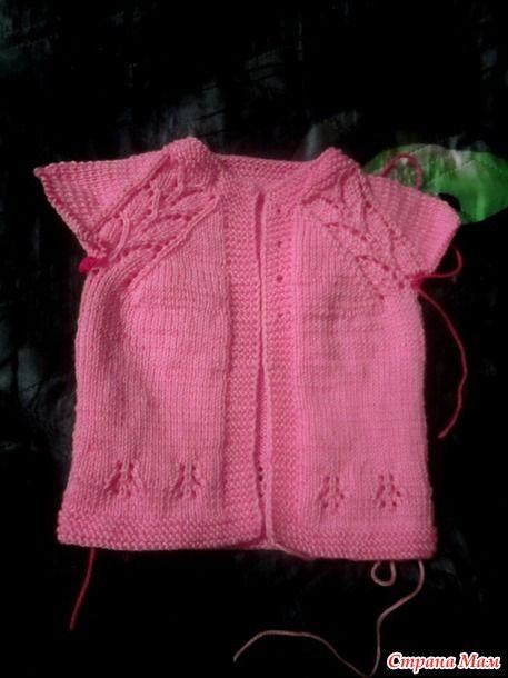 вязание кофточки ажурной для детей
