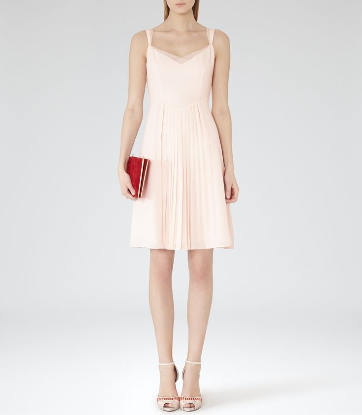 Womens Lychee Pleated Day Dress - Reiss Cohle This dress makes me think of Baby in Dirty Dancing